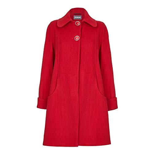 De La Creme Red Womens Swing Wool Cashmere Winter Coat Size 16 -