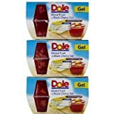 Dole Gel Bowls Mixed Fruit in Black Cherry Gel, 4 oz, 3 pk