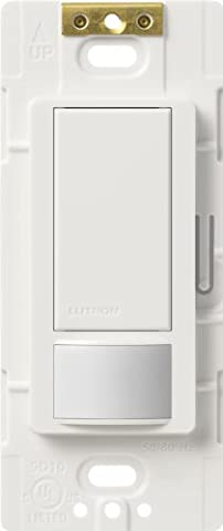 Lutron Maestro Sensor switch, 2A, No Neutral Required, Single-Pole, MS-OPS2-WH, White (3 Function Light Switch)