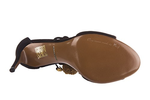 tacón Dolce en amp;Gabbana sandalias nuevo mujer de ante negro Hqt6Fq