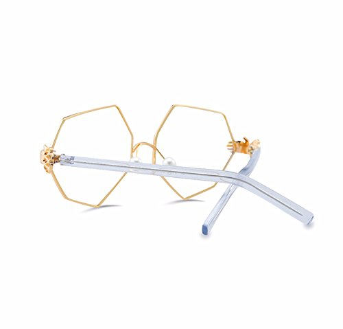 irregular bastidor gafas Gafas cuadro gafas personalidad Hembra polígono XIAOGEGE wqC0XX