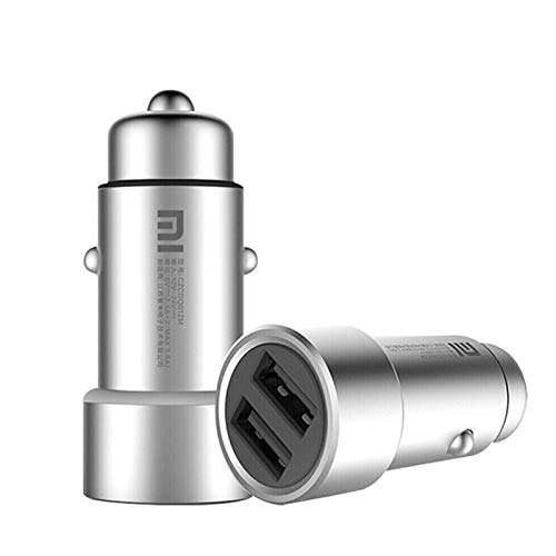 Ocamo Cargador de Coche, Caja de Metal, Puerto Dual USB de Carga, Cargador de Coche Universal, Adecuado para Xiaomi Redmi...
