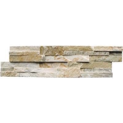 (MS International Golden Honey Ledger Panel 6 in. x 24 in. Natural Quartzite Wall Tile - Box of 30)