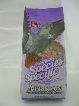 Special Bird Food African - Pretty Bird International BPB73313 Species Specific African Bird Food with Extra Calcium, 3-Pound