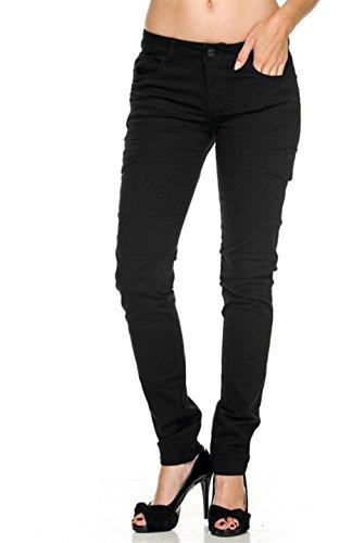 2LUV Womens Fashionable Skinny Cargo Twill Pants