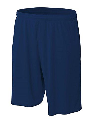 MadSportsStuff Pro Line Performance Mesh Youth Basketball Shorts (Navy, X-Large)