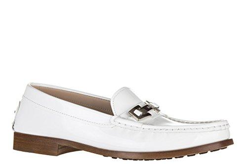Tod's mocassins femme en cuir vn macro clamp blanc