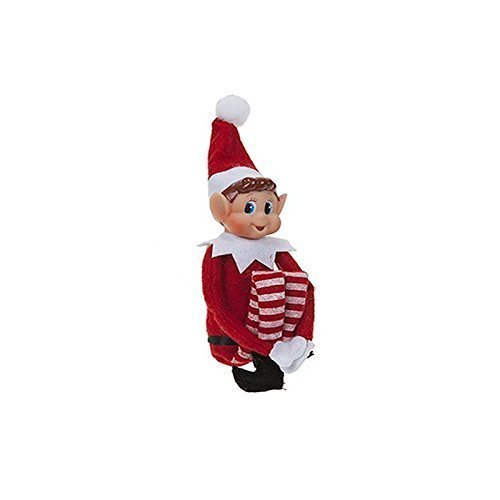 Vinyl Face - 12 Inch Long Leg Soft Body Vinyl Face Elf With Hat & Tag