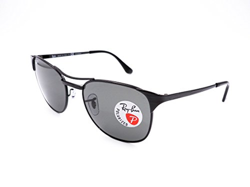 Ray-Ban Signet RB3429 002/58 Sunglasses Black Frame 55mm w/ Polarized Crystal Green Lens                  ()