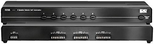 - ISS6 6-Channel High Power Stereo Speaker Selector Switch with Impedance Matching Protection - OSD Audio