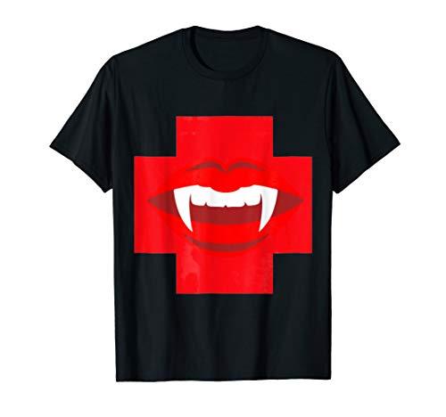 Funny Halloween Nurse Costume Shirt Vampire Donate Blood