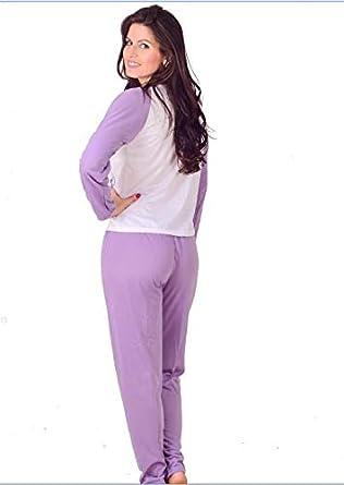f9a9723e333d64 Pijama Feminino Vip Lingerie Inverno Longo: Amazon.com.br: Amazon Moda