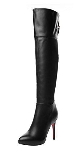 tmates-womens-fashion-faux-leather-fur-lined-pull-on-zip-pointed-toe-stiletto-knee-high-boots-75-bmu
