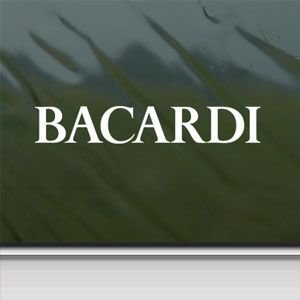 Bacardi White Sticker Decal Vintage White Car Window Wall Macbook Notebook Laptop Sticker Decal ()
