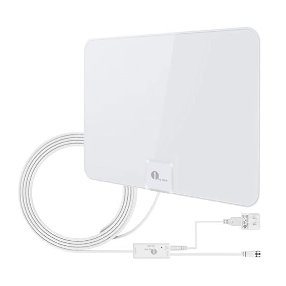 1byone Upgraded 2019 Digital Amplified Indoor HD TV Antenna, Amplifier Signal Booster Support 4K 1080P UHF VHF Freeview HDTV Channels, 20ft Coax Cable - 31E CjXxLYL - [Upgraded 2019] 1byone Digital Amplified Indoor HD TV Antenna, 50-85 Miles Range Amplifier Signal Booster Support 4K 1080P UHF VHF Freeview HDTV Channels, 20ft Coax Cable