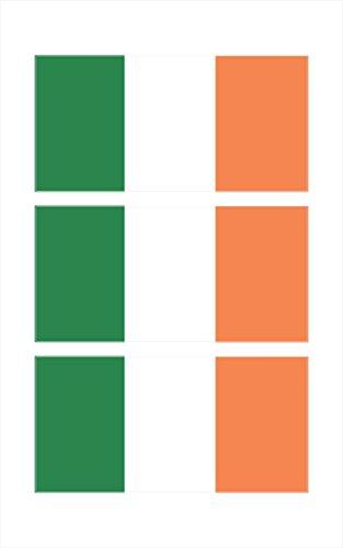 3 -Irish Ireland Flag Hard Hat Biker Motorcycle Helmet iPhone Stickers Decal