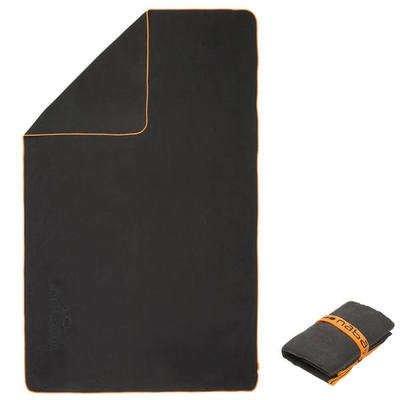 Nabaiji Ultra Compact Microfibre Medium Towel (Grey, 65x95cm)