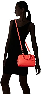 COACH Refined Grain Leather Mini Nolita Satchel Handbag Light/Watermelon