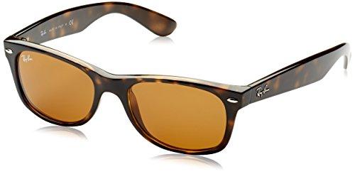 Ray-Ban New Wayfarer Classic, Light Tortoise Frame/Brown - New 52mm Polarized Ray Rb2132 Sunglasses Ban Wayfarer