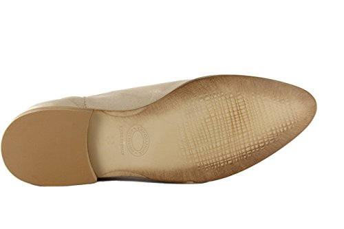 Damen Stiefelette Chelsea Donna Piu beige-gold metallic Leder