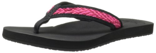Reef Women's Braided Cushion Sandal,Hot Pink/Black,5 M (Womens Braided Cushion)