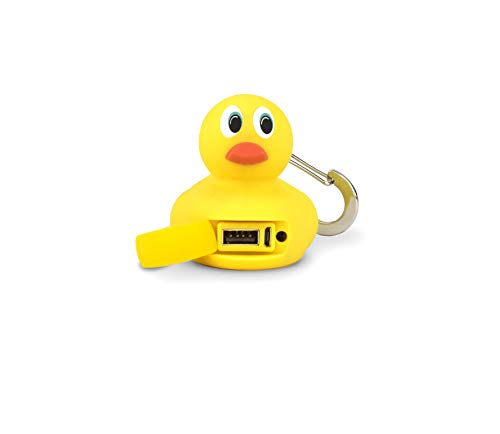 BUQU Bubs Ducky Portable Charger 2500mAh Power Bank Cute Universal Phone Battery Charger Works with Apple iPhone, Samsung, Android and USB Mobile Devices ()