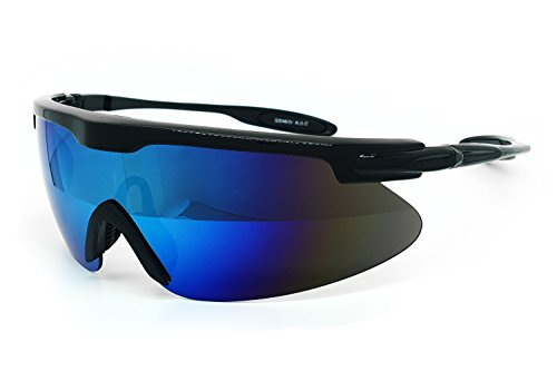 O2 Eyewear 3046 Revo Sports Sunglasses for Baseball Running Cycling Fishing Golf Driving (Sports, - Sunglasses Cricket