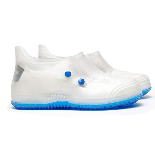 Pastaza Rain Shoes Transparent Waterproof Snow Covers Men Women Rain Boots Unisex Adult Shoe ()