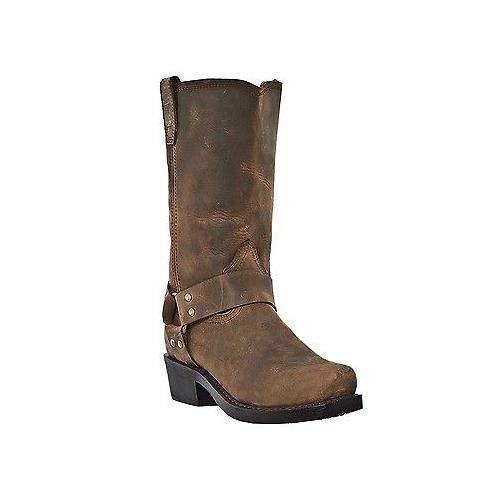 (Dingo Men's Dean Harness Boot Square Toe Dark Brown 10 EE)