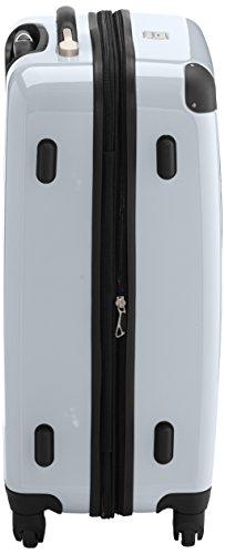 HAUPTSTADTKOFFER - Alex - 2er Koffer-Set Hartschale glänzend, TSA, 65 cm + 55 cm, 74 Liter + 42 Liter, Graphit-Gelb Schwarz-weiß