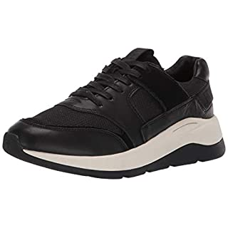 Frye Women's Willow Low LACE Sneaker, Black Suede/Leather/Mesh, 9.5 M US