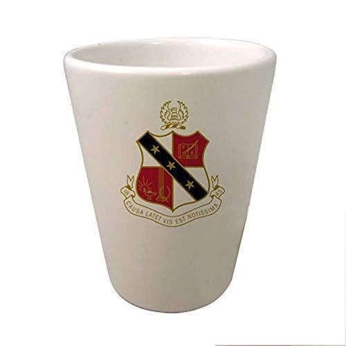 (Greekgear Alpha Sigma Phi Crest Ceramic Collectors Glass Gloss White)