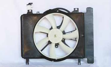 TYC 621620 Toyota Yaris Replacement Radiator//Condenser Cooling Fan Assembly