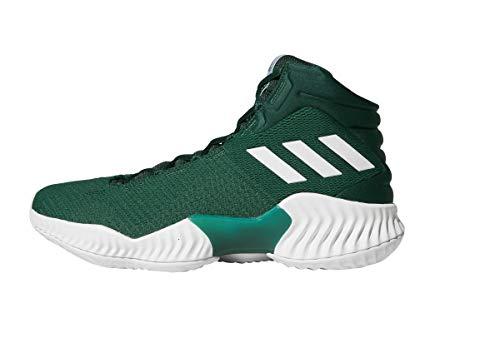 adidas Men's Pro Bounce 2018 Basketball Shoe, Dark Green, 10 M US