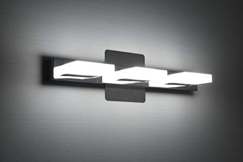 mirrea 18in Modern LED Vanity Light in 3 Lights Stainless Steel and Acrylic 16w Cold White 5000K by mirrea (Image #2)