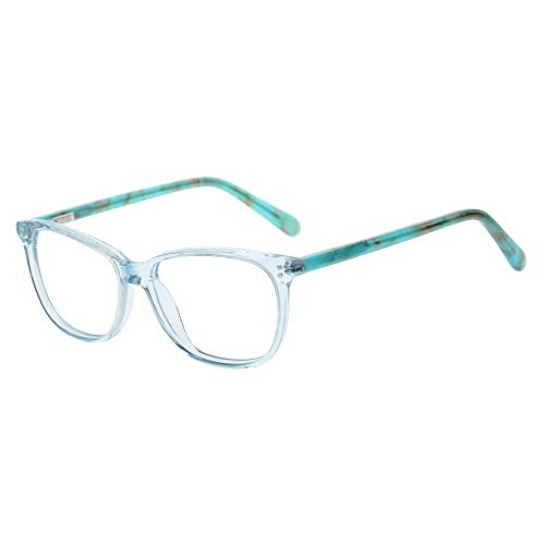Teens Children Kids Glasses with Square Clear Lens for Boys Girls Gray Pink (Age 5-12) (Wk17070C5 ()