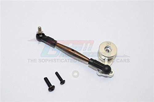 Part & Accessories Aluminium Hi-torque Servo Saver 25T With Steel Tie Rod - 1set For CC01 - (Color: silver) ()