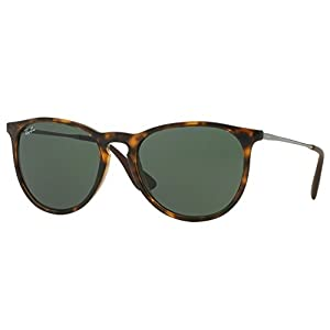 Ray Ban Erika Wayfarer Sunglasses Brown Frame Solid G15 Lens
