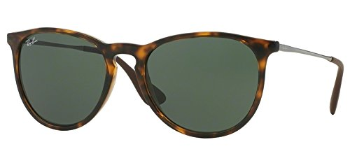 Ray Ban Erika Women's Wayfarer Sunglasses (Brown Frame Solid G15 - Black Ban Erika Ray