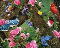 River's Edge Cutting Board, Songbirds