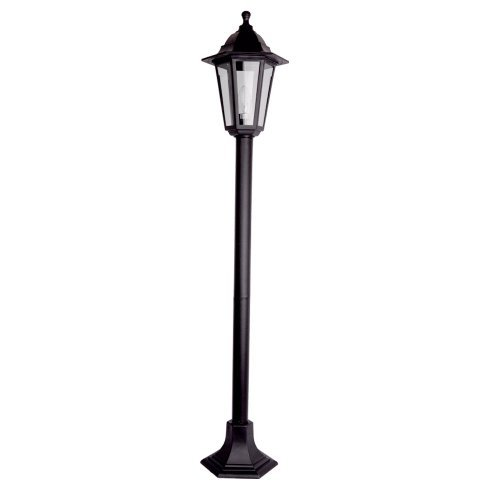 Traditional Nautical Black Ip44 Outdoor Garden Bollard: UK-Gardens 7ft Victorian Garden Lamp Post