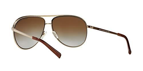 Armani Exchange Metal Unisex Polarized Aviator Sunglasses, Light Gold/Dark Brown, 61 mm by A X Armani Exchange (Image #6)