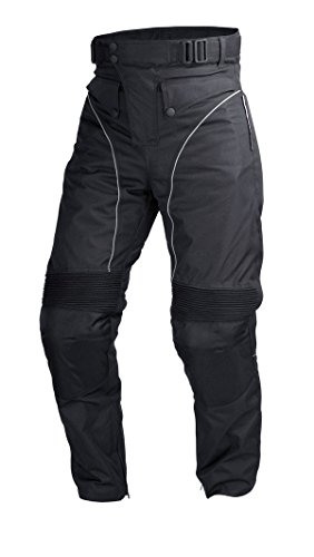 Mens Motorcycle Biker Waterproof, Windproof Riding Pants Black with Removable CE Armor PT1 (M)