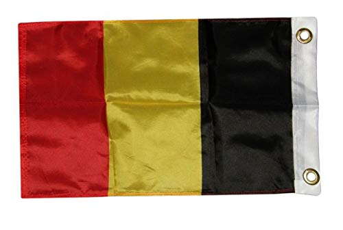 Mikash 12x18 12x18 Country of Belgium Boat Motorcycle Flag Grommets | Model FLG - 3637