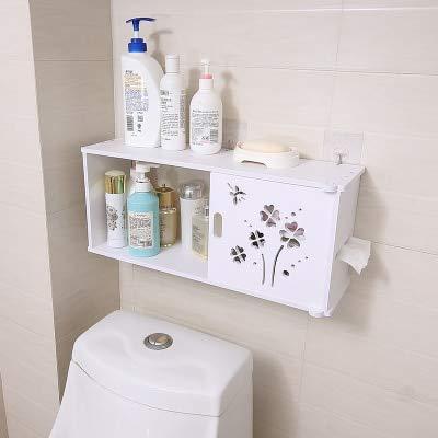 浴室 カウンター ラック 棚化粧品 フレーム 収納棚 プラスチック 防 -7 [並行輸入品] B07SH296T6