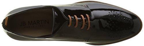 Donna Noir Veau Martin Noir Scarpe Stringate Derby Jb H17 1fil Vernis qf0nYFwx8