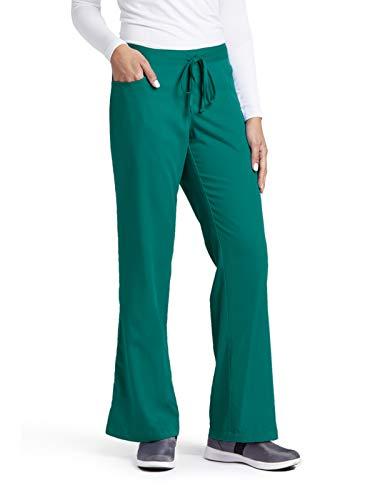 - Grey's Anatomy Women's Junior-Fit Five-Pocket Drawstring Scrub Pant - Large Petite - Hunter Green