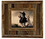 Durango Rustic Barnwood Picture Frame, 11x14 Opening Western Aged Wood Frame