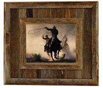 Durango Rustic Barnwood Picture Frame, 11x14 Opening Western Aged Wood Frame by MyBarnwoodFrames