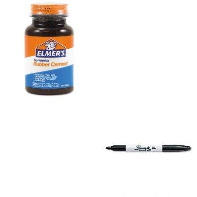 KITEPIE904SAN30001 - Value Kit - Elmer's Rubber Cement (EPIE904) and Sharpie Permanent Marker (SAN30001)
